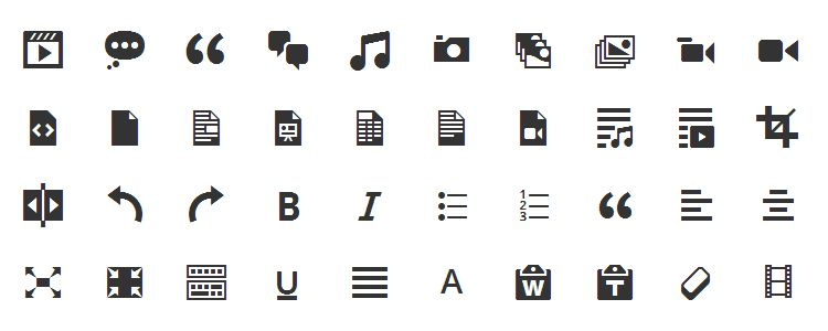 Dashicons is The Official WordPress Admin free icon fonts with 197 Icons