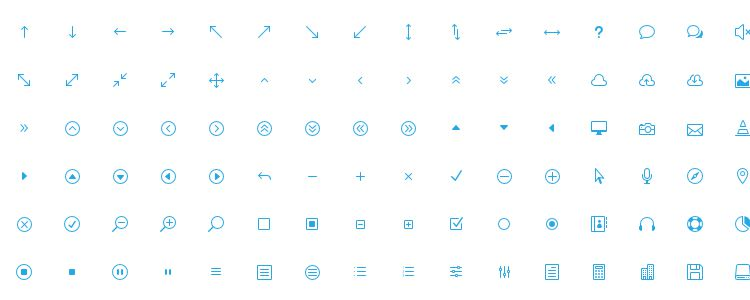 The Elegant Icon Font with 360 Icons