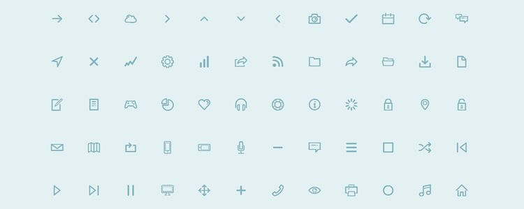 Dripicons is A Completely Free, Vector Line-Icon Font with 95 Icons