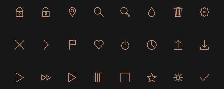 Icon Pack is A Line-Styled Icon Font from Petras Nargela with 40 Icons