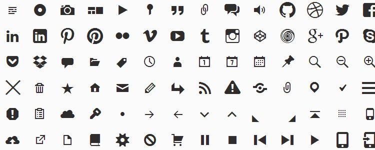 Genericons is An Icon Font from WordPress with 123 Icons