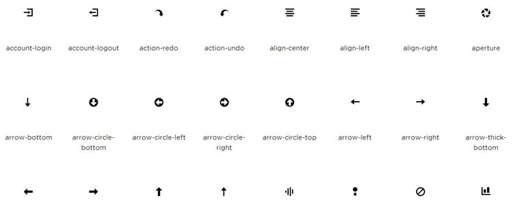 Open Iconic is A Highly Legible Icon Font with 218 Icons