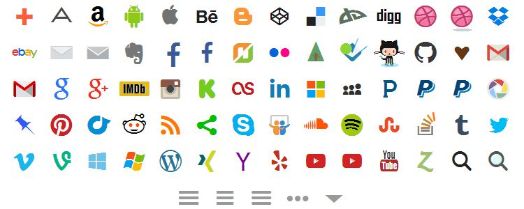 Socialicious is A Social Media Icon Library with 58 Icons