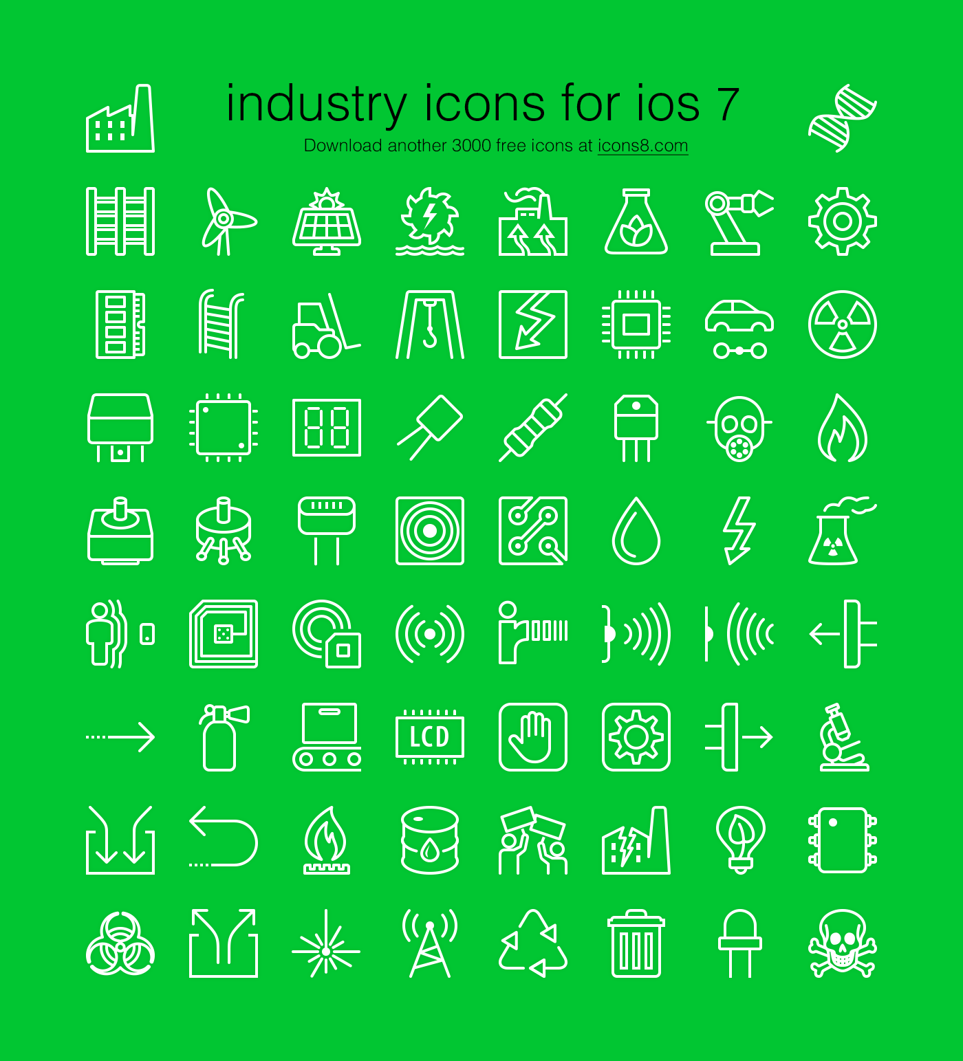 free for designers industrial icon set in an ios7 style