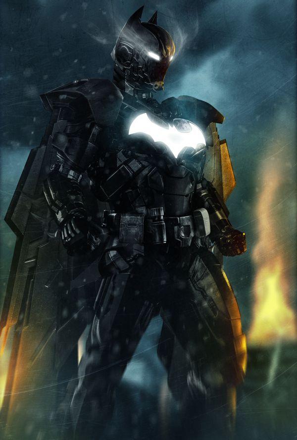 Batman and Iron Man Digital Art Mashup