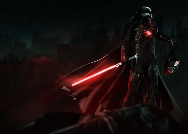 Darth Vader and Iron Man mashup Digital Art by Bosslogic