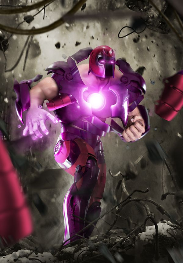 Juggernaut and Iron Man Digital Art Mashup