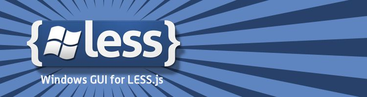 WinLess is your best bet when it comes to Windows GUI for CSS preprocessor Less.js