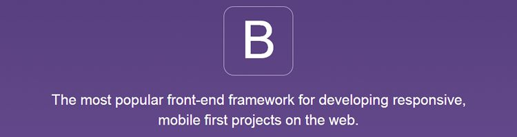Bootstrap is an extremely popular front-end framework