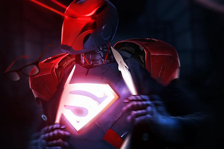 Iron Man Digital Art Mashup Series by Bosslogic