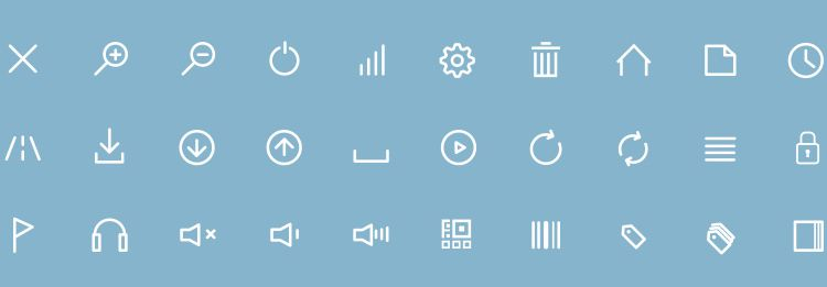 Flat Line Icons Webfont - 180 Minimal Icons for Bootstrap in this weeks news for designers