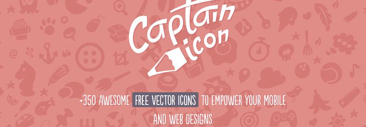 Captain Icon - 350 vector icons to empower your mobile and web designs in this weeks news for designers