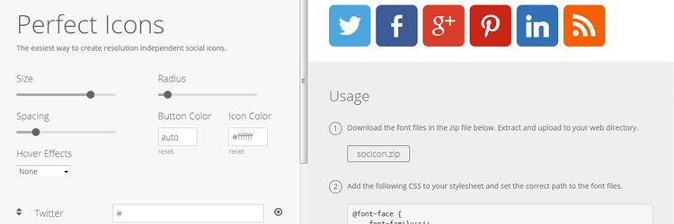 Perfect Icons - A social icon creation tool weekly news for designers