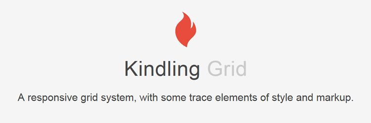 Kindling - A responsive grid system, with some elements of style and markup weekly news for designers