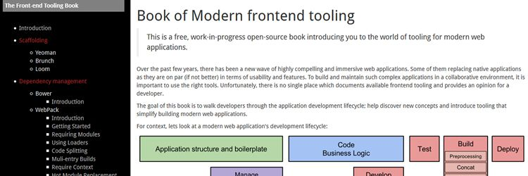 Free Ebook Book of Modern Frontend Tooling weekly news for designers