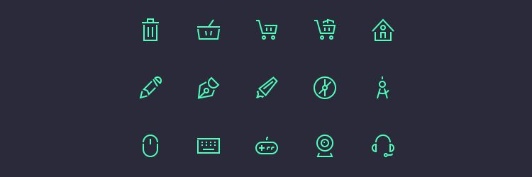 Stroke Gap Icons Set Vol.2 50 icons PSD & AI weekly news for designers