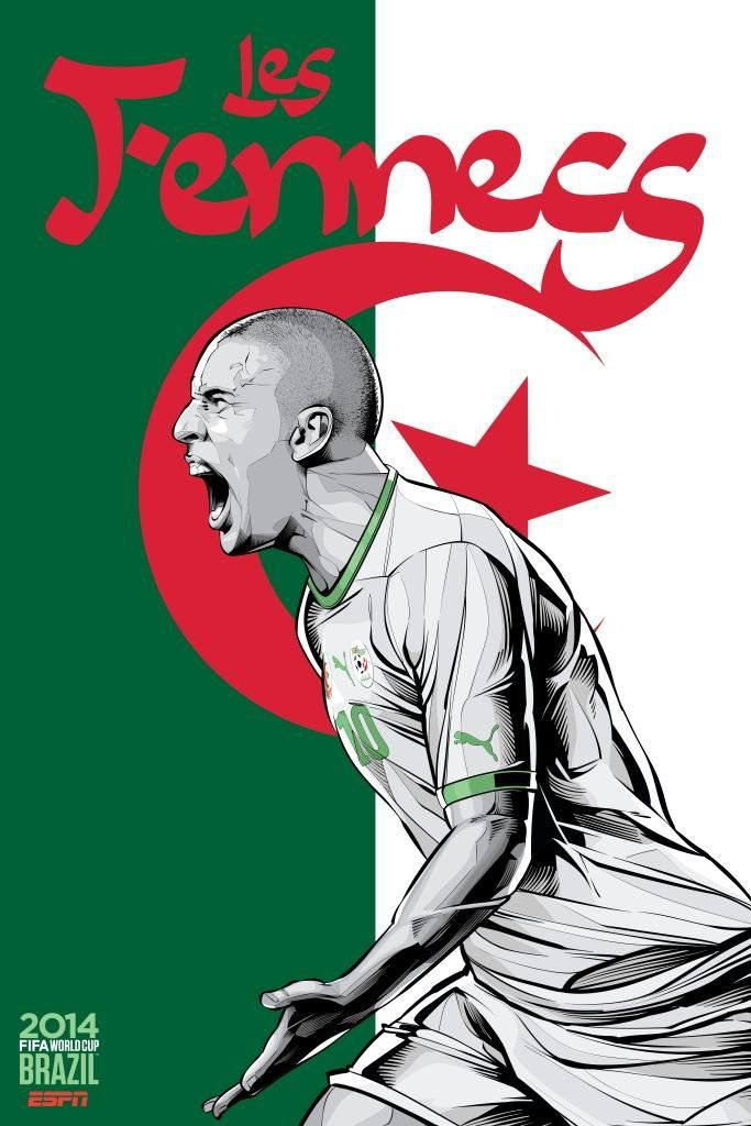 ESPN wordld cup poster brazil 2014 of Algeria
