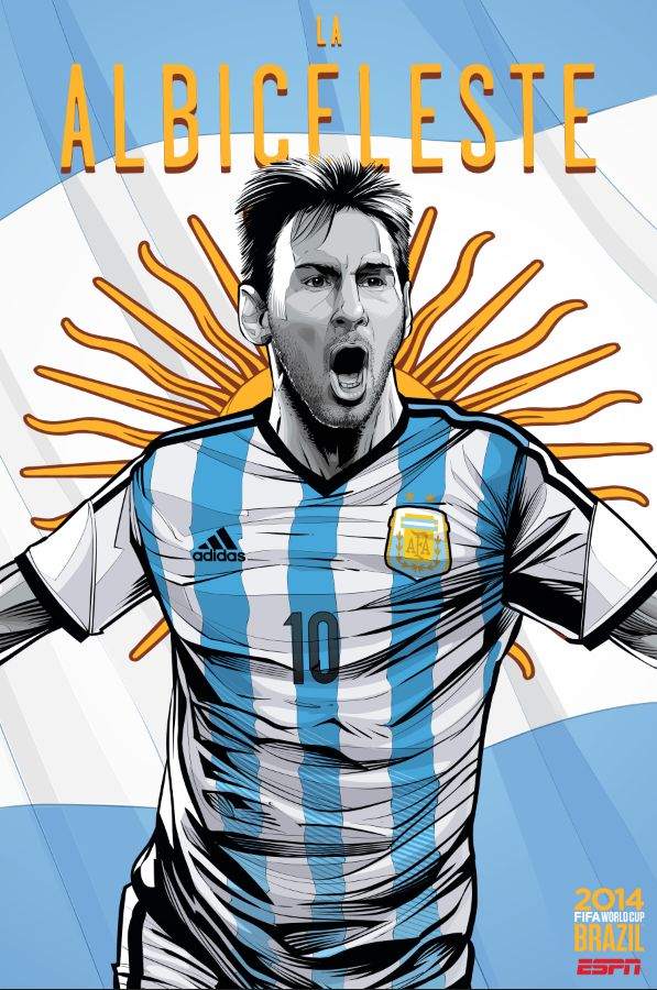ESPN poster world cup brazil 2014 of Argentina