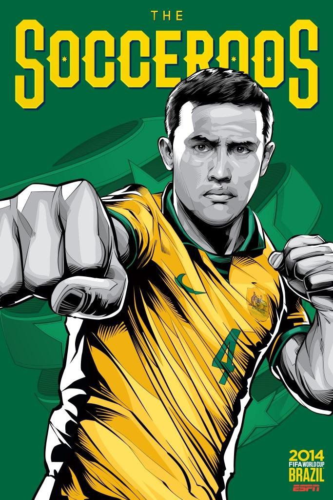 ESPN poster world cup brazil 2014 of Australia