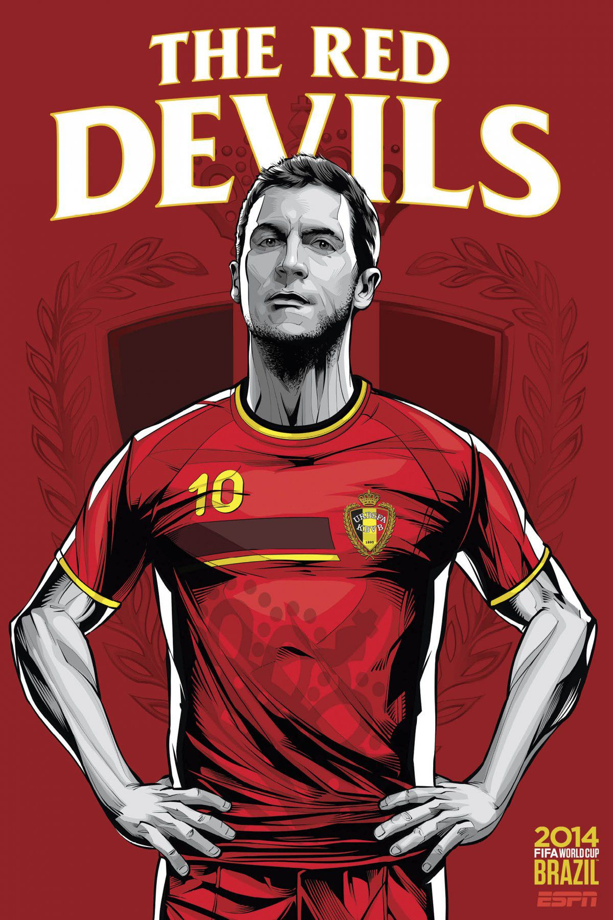 ESPN poster world cup brazil 2014 of Belgium