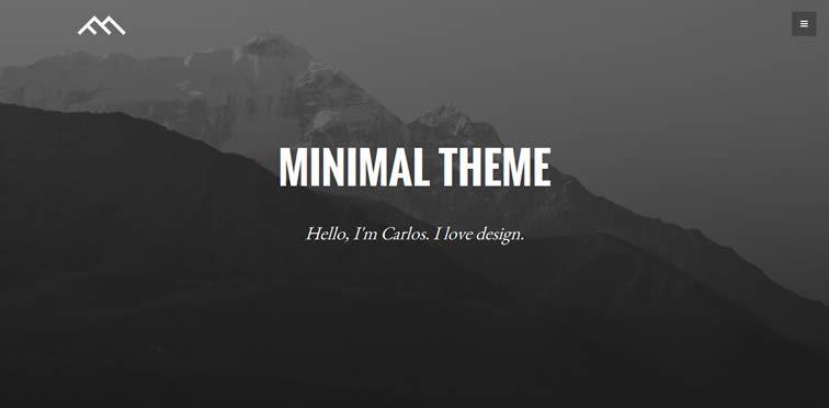 Minimal Dark styled landing page bootstrap free