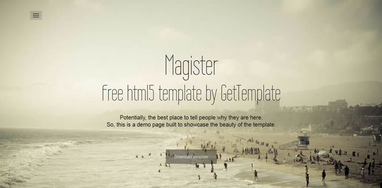 Magister barebones Bootstrap landing page free bootstrap