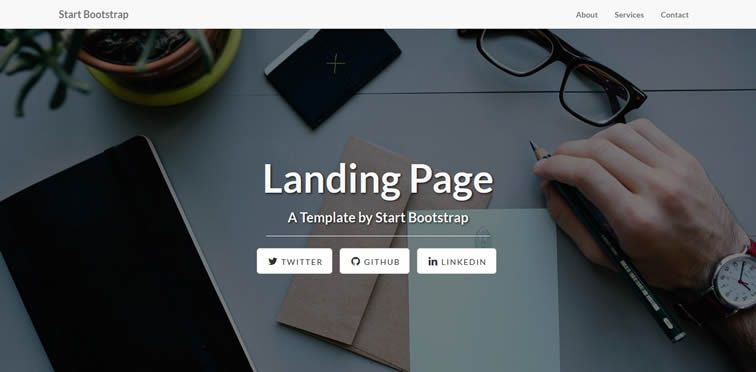 Landing Page Template feature-rich showcasing products free apps bootstrap