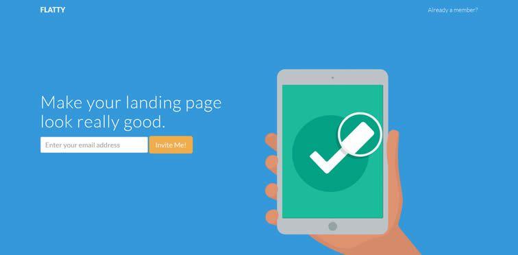 Flatty A flat-styled landing page theme bootstrap