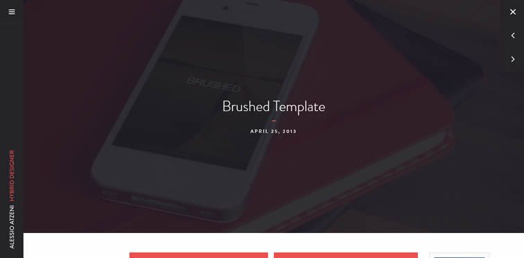 Brushed beautiful single-page template free creatives bootstrap