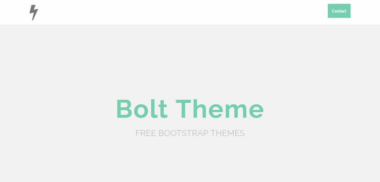 Bolt elegant one-page template flat responsive free focus content bootstrap