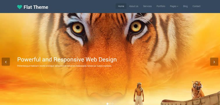 Flat Theme multipurpose template business small companies free bootstrap