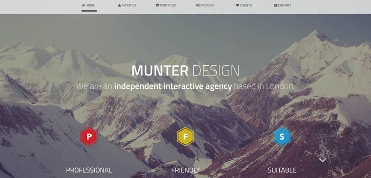 Munter free creative agency template bootstrap