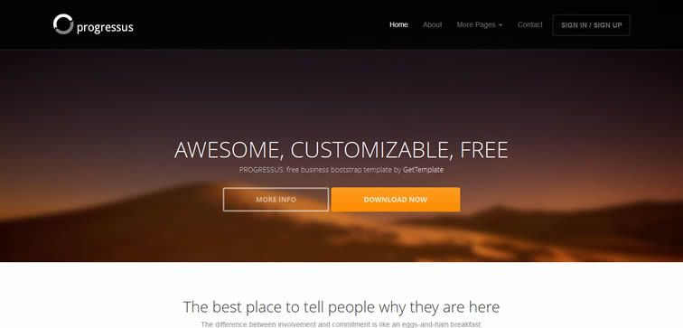 Progressus free elegant agency business template bootstrap