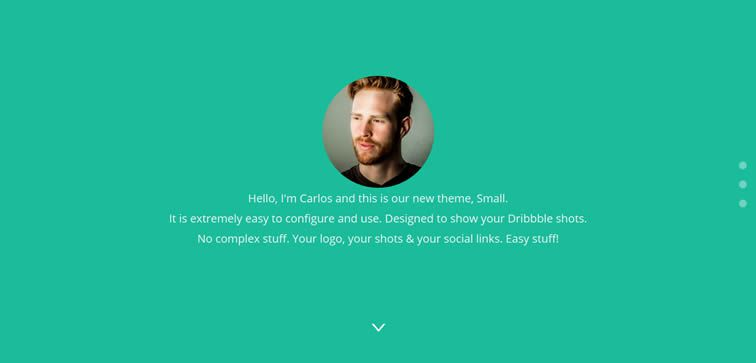 Dribbble Portfolio tiny template free showcasing your latest Dribbble shots bootstrap