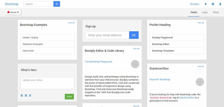 Bootply Google+ googleplus style template free Bootstrap 3 bootstrap