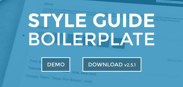 Style Guide Boilerplate template creating living style guides Free Bootstrap templates theme
