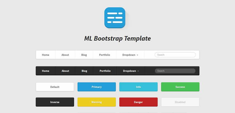 ML Strap Bootstrap UI kit free
