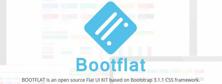 Bootflat open source free Flat UI KIT Bootstrap CSS framework bootstrap