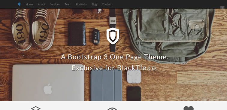 Shield single-page theme ideal agencies designers creatives freelancers bootstrap free