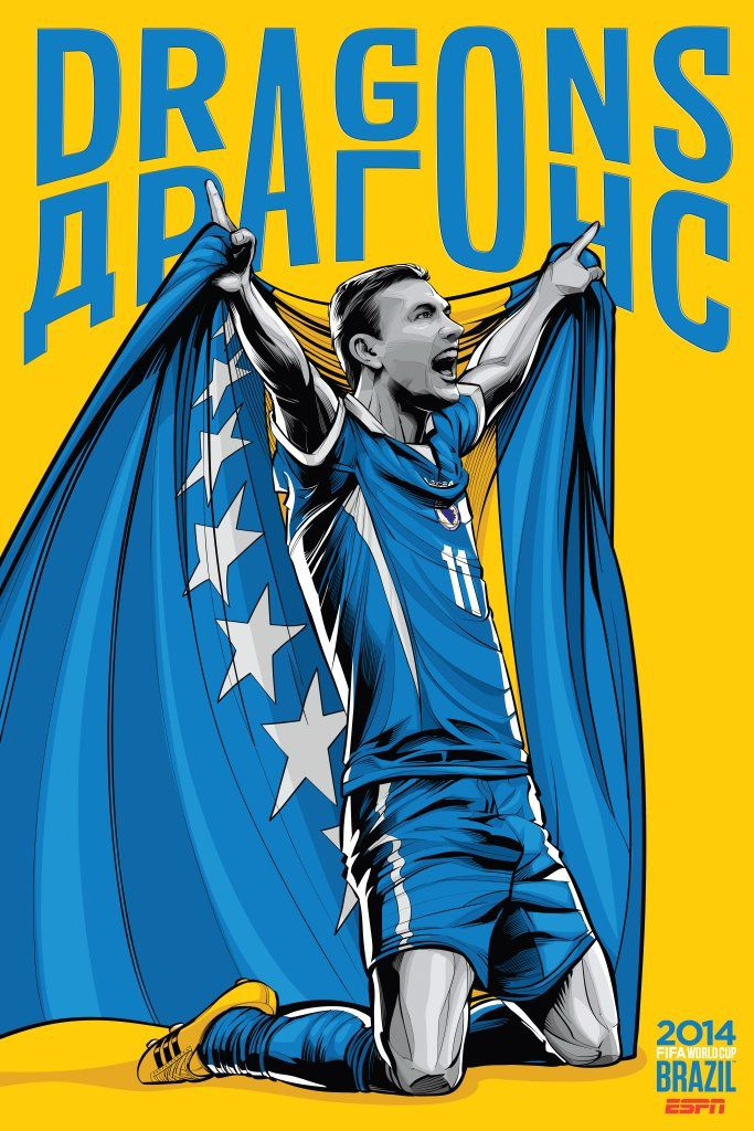 ESPN poster world cup brazil 2014 of Bosnia and Herzegovina