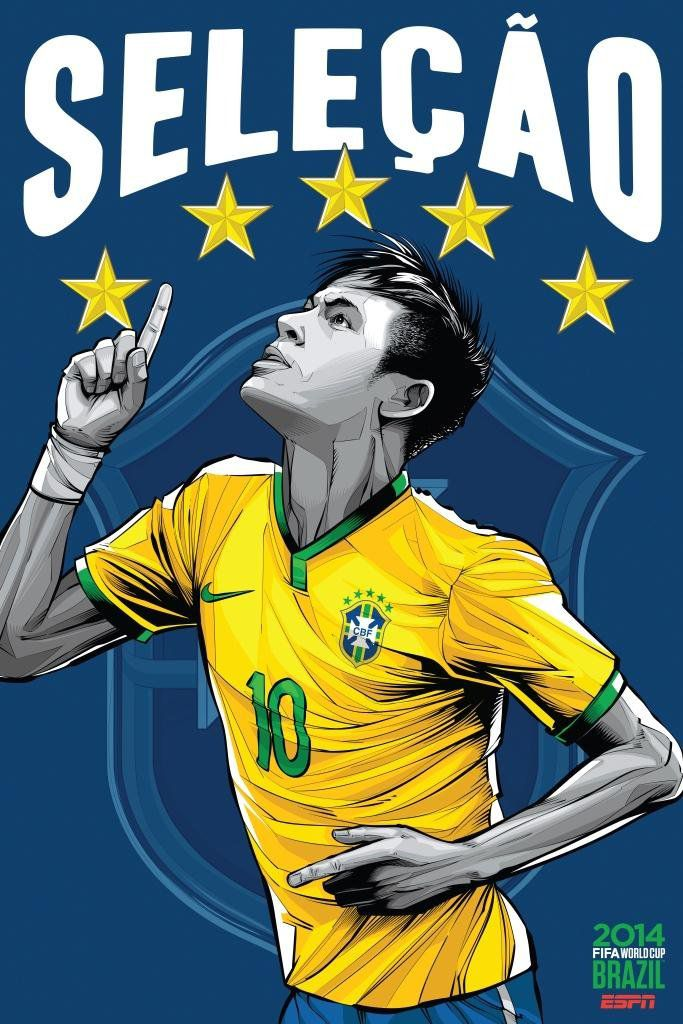 ESPN wordld cup poster brazil 2014 of Brazil
