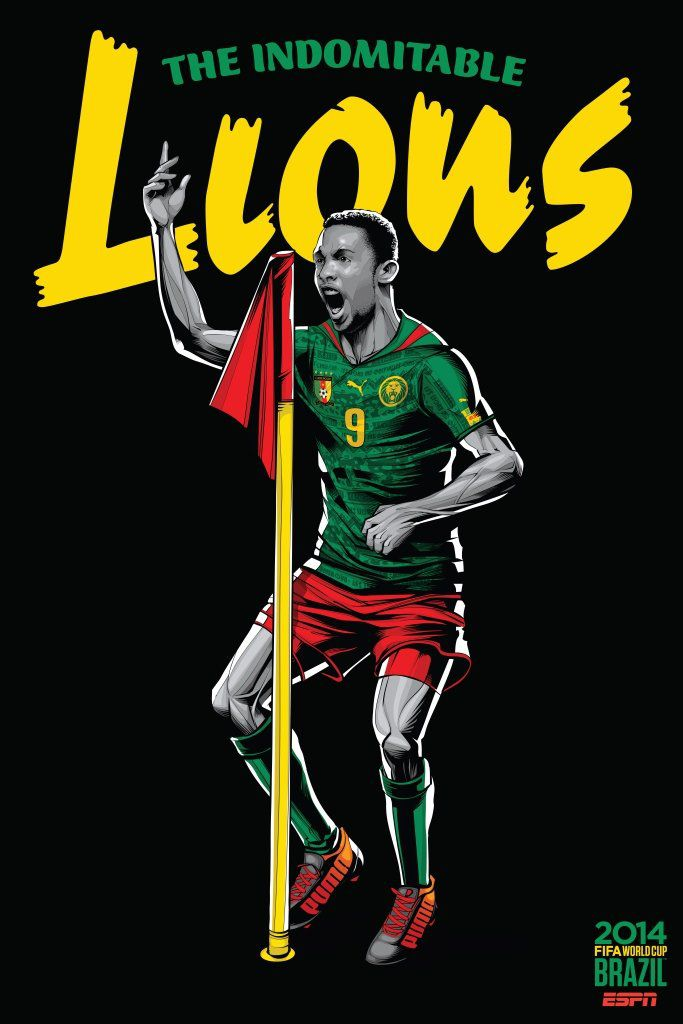 ESPN poster world cup brazil 2014 of Cameroon