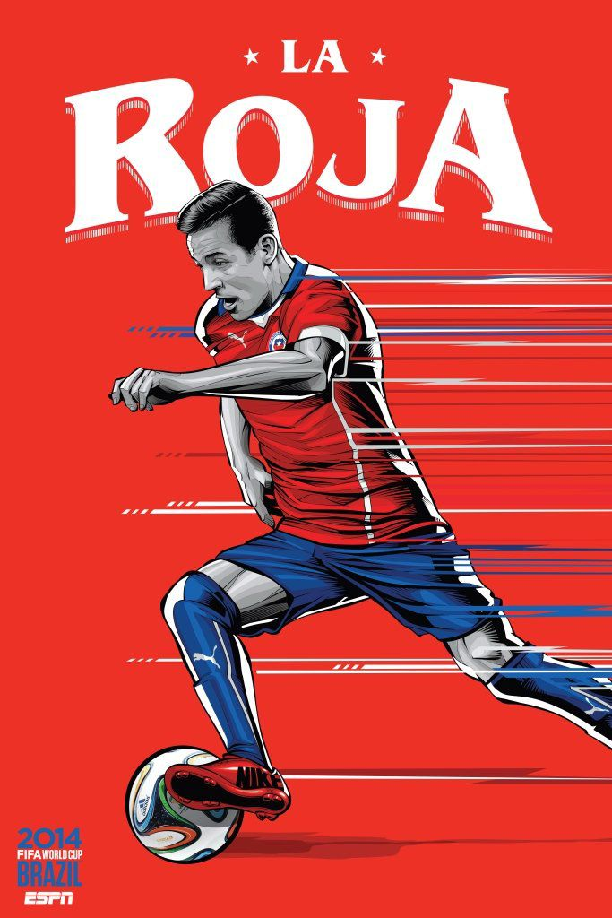 ESPN poster world cup brazil 2014 of Chile