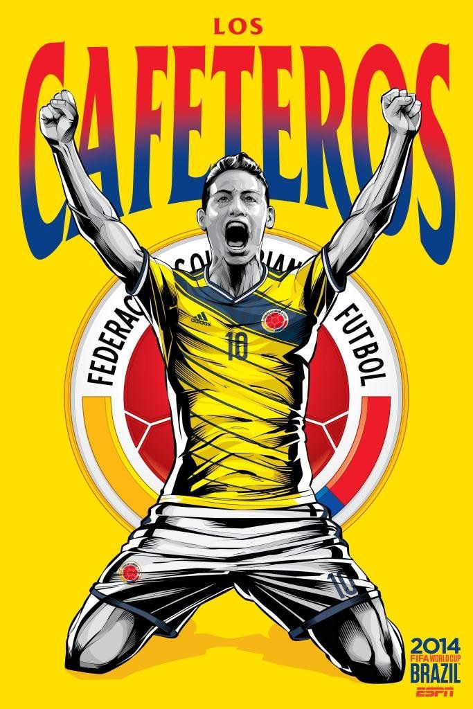 ESPN poster world cup brazil 2014 of Colombia