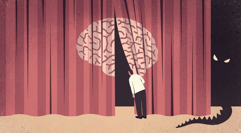 conceptual illustrations Diagnosing Alzheimer