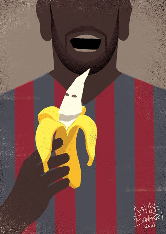 thought provoking poster Dani Alves Eats Racism