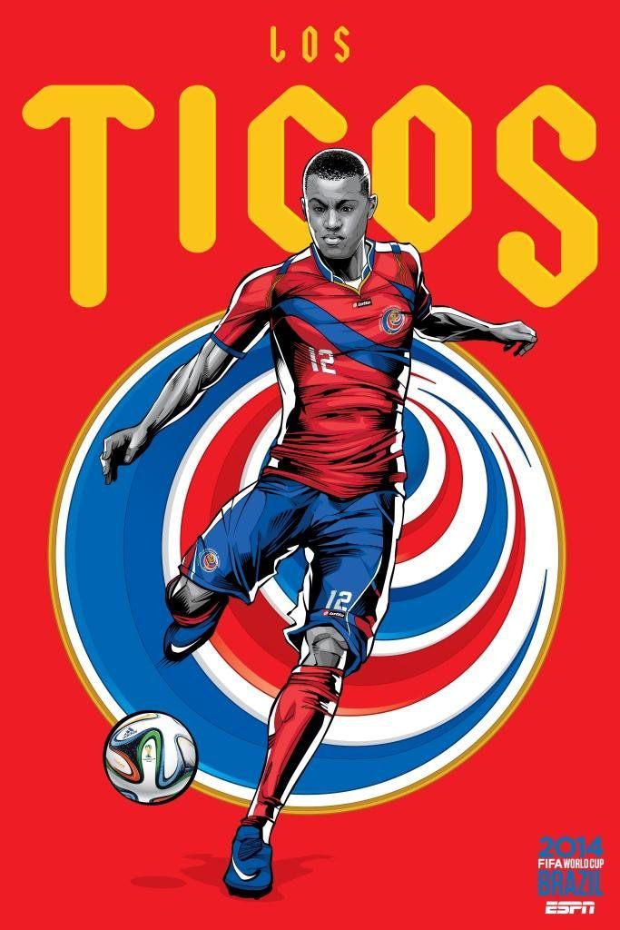 ESPN poster world cup brazil 2014 of Costa Rica