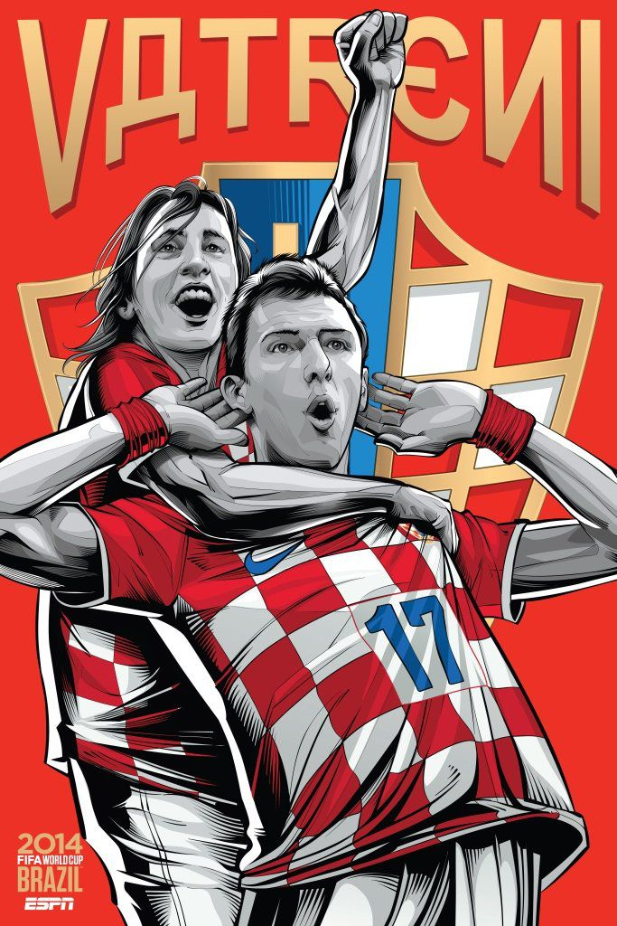 ESPN wordld cup poster brazil 2014 of Croatia
