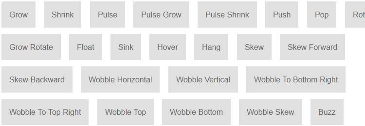 Hover.css A selection of CSS3 animated hover effects for buttons
