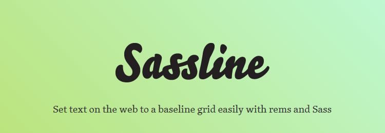 Sassline A Sass mixins for setting text to a baseline grid with ease CSS Libraries